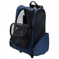 PETTOM Roll Around 4-in-1 Pet Carrier Travel Backpack For Dogs And Cats Travel Tote Airline Approved Blue