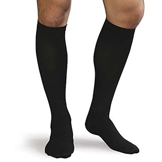 Advanced Orthopaedics Mens Support Socks Tri-Pack 15-20mm Hg Compression, Black, Large