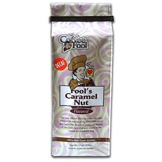 The Coffee Fool Very Fine Grind, Fools Decaf Caramel Nut, 12 Ounce