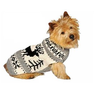 Chilly Dog Reindeer Shawl Dog Sweater, Small