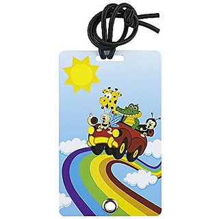 YaYtag Fun New Concept of Luggage Tag - 2 Pack - Rainbow Riders