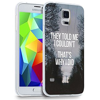 S5 Case, Case for Samsung Galaxy S5 inspiration quotes from books Design