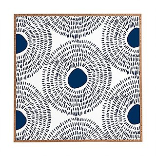 DENY Designs Framed Wall Art, Camilla Foss Circles In Blue Ii, Small