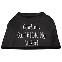 Mirage Pet Products 20-Inch Cant Hold My Licker Screen Print Shirts For Pets, 3X-Large, Black