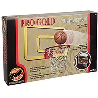 POOF -Slinky 455BL Pro Gold Over The Door 18-Inch Breakaway Rim Basketball Hoop Set With Clear Shatterproof. . .