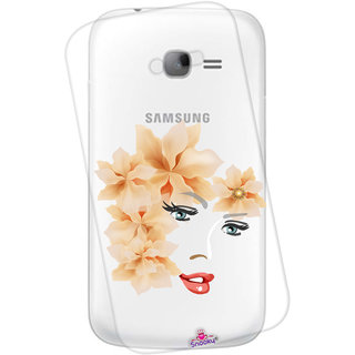 Snooky Printed transparent Silicone Back Case Cover For Samsung Galaxy S7278