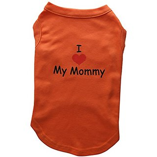Mirage Pet Products 14-Inch I Love My Mommy Screen Print Shirts For Pets, Large, Orange
