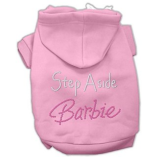 Mirage Pet Products 20-Inch Step Aside Barbie Hoodies, 3X-Large, Pink