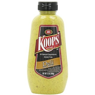 KOOPSMustard Deli Spicy Brown 12 Ounce (Pack of 3)