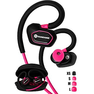 Bluetooth Earbuds. SoundWhiz Spark Best Wireless Earbuds. Stable Fit For Running, Cycling, Gym, Yoga, Fitness. Wireless