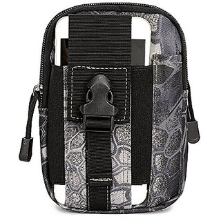 Security and Convenient Multi-function Tactical Smartphone Holster EDC Utility Gadget Belt Waist Bag for Climbing Hiking