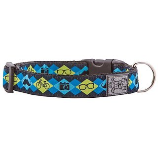 RC Pet Products 1-Inch Adjustable Dog Clip Collar, Medium 12-20-Inch, Hipster