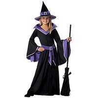 California Costumes Incantasia The Glamour Witch Girls Costume With Broom & Wand Bundle Costume, Black/Purple
