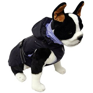 One for Pets All Season Dog Coat with Removable Fleece Lining, 20-Inch, Navy
