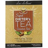 Laci Le Beau Super Dieters Tea, Cinnamon Spice, 60-Count Box (Pack Of 2)