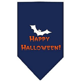 Mirage Pet Products Happy Halloween Screen Print Bandana for Pets, Small, Navy Blue