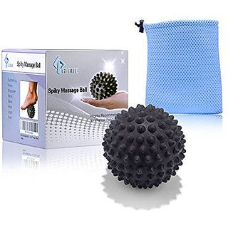 Foot Massage Ball By GLOUE - Sports Outdoor Foot and Back Pain Relief - Highly Recommended for Plantar Fasciitis - Deep