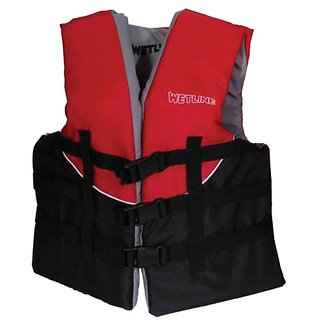 Wetline Youth Ski Vest, Red/Black