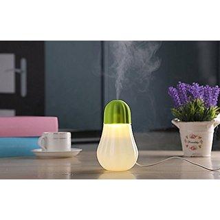 Virgiler Pumpkin Lamp Shape 350ml Mini USB Ultrasonic Humidifier With Nightlight For Bedrooms Living Rooms Car Home Offi