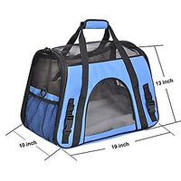 Pet Carrier, PYRUS Soft-Sided Kennel Cab Folding Soft Dog Crate Pet Travel Carrier Bag For Dogs Cats And Puppies ( Blue