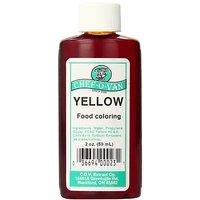 Chef-O-Van Food Coloring, Yellow, 2 Ounce