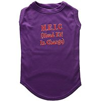 Mirage Pet Products 16-Inch Head Elf In-Charge Screen Print Shirts For Pets, X-Large, Purple