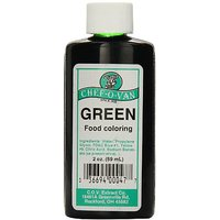 Chef-O-Van Food Coloring, Green, 2 Ounce