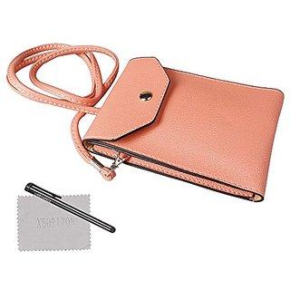 xhorizon TM Universal 6 inch Leather Messenger Bag Traveler Pouch Shoulder Purse Wallet Case For iPhone 4s/5s Samsung S3