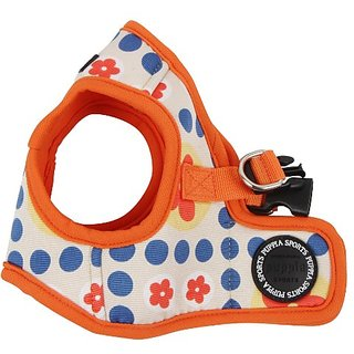 Puppia Authentic Blossom Vest Harness B, Small, Orange