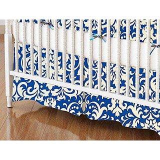 SheetWorld - Crib Skirt (28 x 52) - Royal Damask - Made In USA