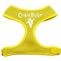 Mirage Pet Products Cookie Taster Screen Print Soft Mesh Dog Harnesses, X-Large, Yellow