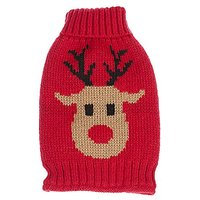 Chasing Tails Pet Holiday Festive Christmas Reindeer Dog Sweater For Small And Medium Breeds (XS (6))