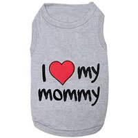 Pet Clothes I LOVE MY MOMMY Dog T-Shirt - Medium