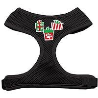 Mirage Pet Products Presents Screen Print Soft Mesh Dog Harnesses, X-Large, Black