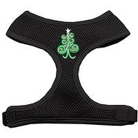 Mirage Pet Products Swirly Christmas Tree Screen Print Soft Mesh Dog Harnesses, X-Large, Black