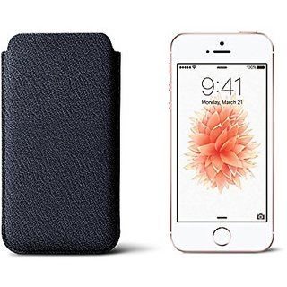 Lucrin - Classic Sleeve for iPhone 5/5S/SE - Navy Blue - Goat Leather