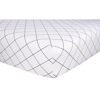 Trend Lab Crib Sheet In Black And White