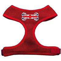Mirage Pet Products Bone Flag UK Screen Print Soft Mesh Dog Harnesses, X-Large, Red