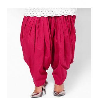 Stylobby Pink Cotton Patiala Salwar - WS