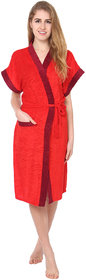 Imported Double Shaded Bathrobe Gown Red
