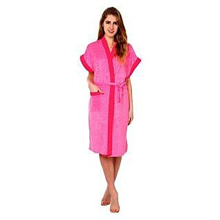 Pink Double Shaded Bathrobe Gown