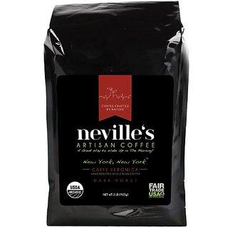 nevilles New York Caffe Veronica Whole Bean Coffee, 2 lb., Dark Roast