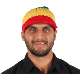 Sushito Stylish Multi Colour Woolen Cap JSMFHCP1534N