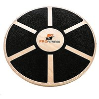 ProFitness Wooden Balance Board (15.5-inch By 3.1-inch) - Exercise, Fitness And Physical Therapy - Non-Slip Safety Top