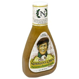 Newmans Own Salad Dressing, Parmesan & Roasted Garlic, 16-Ounce Bottles (Pack of 6)