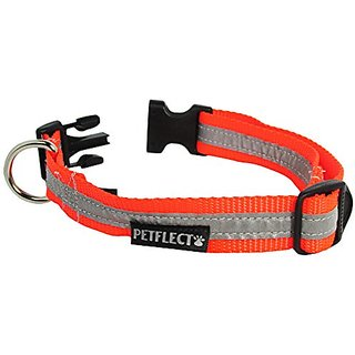 Petflect Large Reflective Collar, Fluorescent Orange
