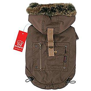 Puppia Authentic Coup Detat Coat, 5X-Large, Brown