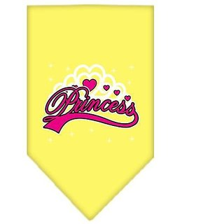 Mirage Pet Products Im a Princess Screen Print Bandana for Pets, Small, Yellow