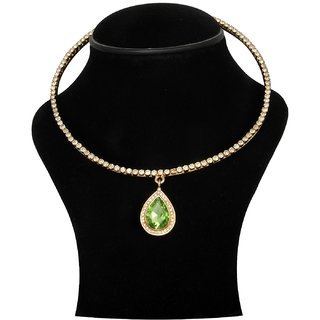Trisha Jewels 24K Gold Plated With Multi Colour Crystal Stone