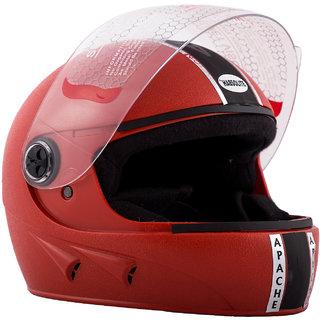 Autofy Habsolite Apache Red Full Face Helmet